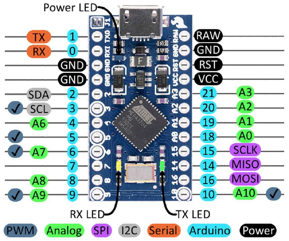 Buy Arduino Pro Micro Clone 5V 16 Mhz with cheap price