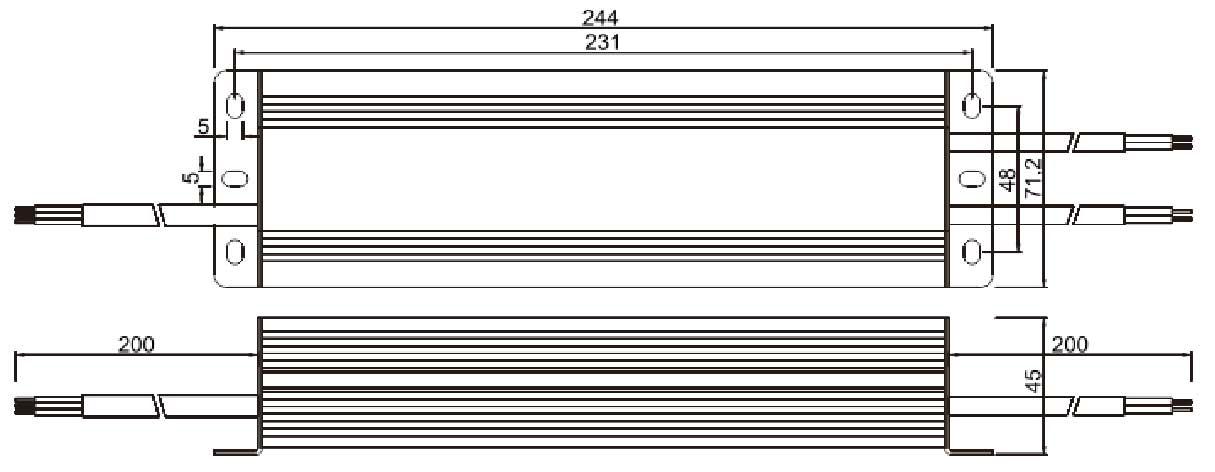12v 12.5A güç kaynağı boyutları