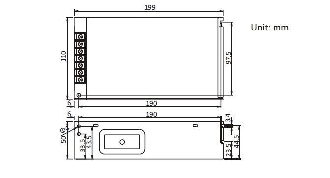 12V 20A adaptör boyutları
