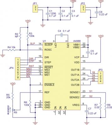 A4988 Step Motor Sürücü Kartı (Siyah PCB) - PL-2128