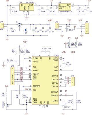 A4988 Voltaj Regülatörlü Step Motor Sürücü Kartı - PL-1183