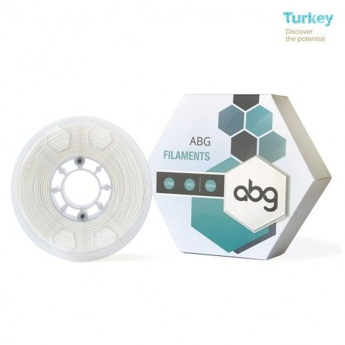 ABG 1.75 mm White ABS Filament