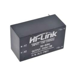 AC 220V - DC 5V Dönüştürücü 3W Güç Kaynağı HLK-PM01 - Thumbnail