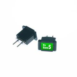 Acoms Technisport V - 2 Channel RC Remote System - Band 3 (27.095 MHz / Orange) - Thumbnail