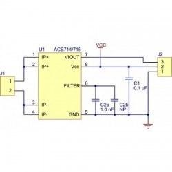 ACS714 Akım Sensörü Kartı (±30 A) - PL-1187 - Thumbnail