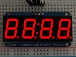 Adafruit - 4 Haneli 0.56 Inch 7-Segment I2C Ekran (Kırmızı)