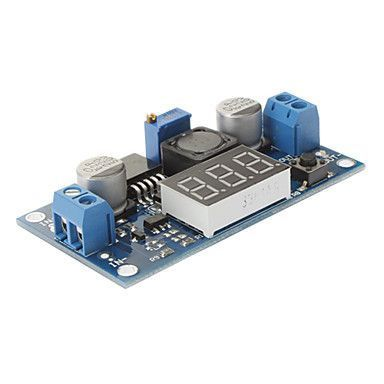 Adjustable 3A Step-Down Voltage Regulator LM2596 With 7 Segment Displays