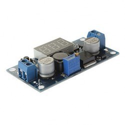 Adjustable 3A Step-Down Voltage Regulator LM2596 With 7 Segment Displays - Thumbnail