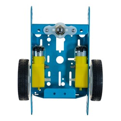 Aluminum Alloy 2WD Robot Chassis - Blue - Thumbnail