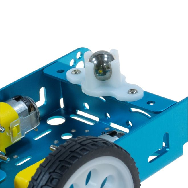 Aluminum Alloy 2WD Robot Chassis - Blue