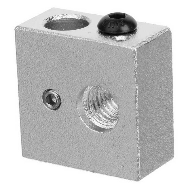 Aluminum Heater Block - MK7 MK8 20x20x10 mm