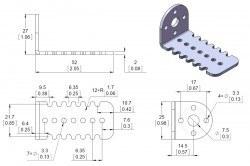 Aluminum L type 25D Motor Bracket (Pair) - PL-2676 - Thumbnail