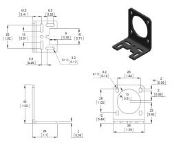 Aluminyum L tipi NEMA 14 Step Motor Tutucu - PL-2257 - Thumbnail