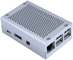 Alüminyum Raspberry Pi B+/2/3 Kutusu (Gri) - Thumbnail