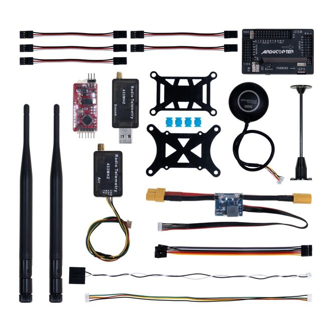 APM 2.8 Flight Controller M8N GPS Built-in Compass + Power Moudle + Mini OSD + 433Mhz 500mw Telemetry