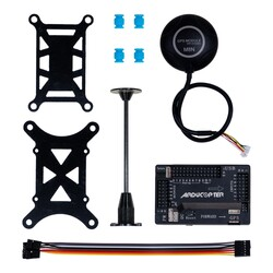 China - APM 2.8 Flight controller M8N GPS Built-in Compass + Shock Absorber + GPS Stand