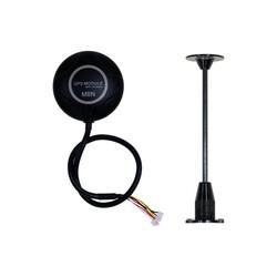APM 2.8 Uçuş Kontrol Kartı + M8N GPS Dahili Pusula + GPS Standı + Darbe Emici Platform - Thumbnail