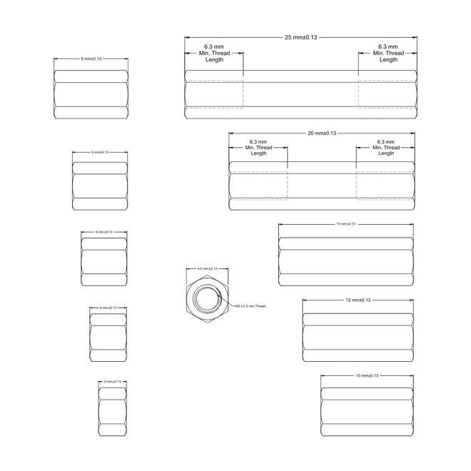 155 Parça Aralayıcı Seti (Standoff-Spacer-Yükseltici)