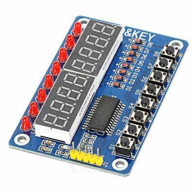 Arduino Compatible 7-Segment Display and Button Modul