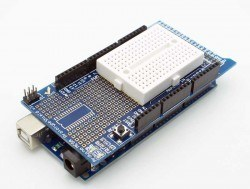 Arduino Mega 2560 R3 Proto Shield Kit with Mini Breadboard - Thumbnail