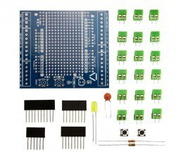 Arduino Proto Screw Shield Kit R3 - Lehimsiz - Thumbnail