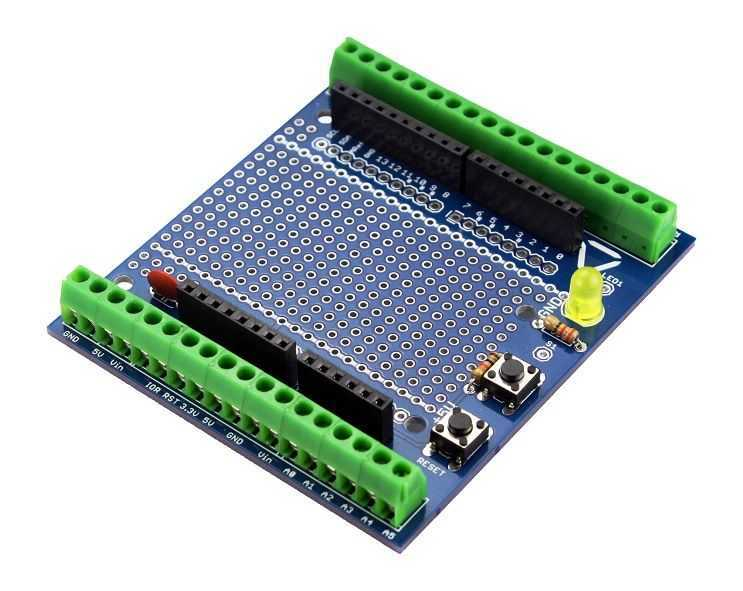 Buy arduino proto screw shield kit r not soldered with
