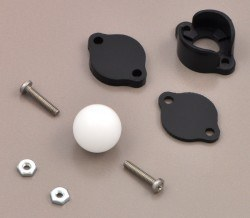 Ball Caster with 1/2'' Plastic Ball - Thumbnail