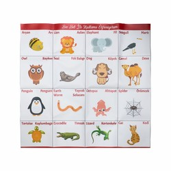 Bee-Bot - Bee-Bot and Blue-Bot Animals Mat - Turkish Version
