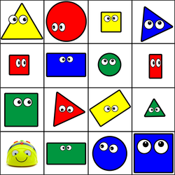 Bee-Bot - Bee-Bot and Blue-Bot Shapes Mat - Turkish Version