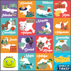Bee-Bot - Bee-Bot and Blue-Bot Turkey Map Mat - Turkish Version