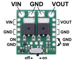 Big MOSFET Slide Switch with Reverse Voltage Protection (High Power) - Thumbnail