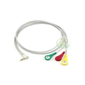 Biomedikal Sensor Pad Kablosu (3 konektör) - Electrode Pads