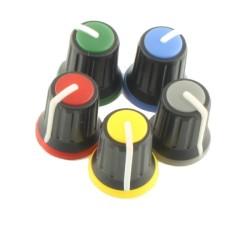 Robotistan - Black Potansiometer Button (Red Headed)