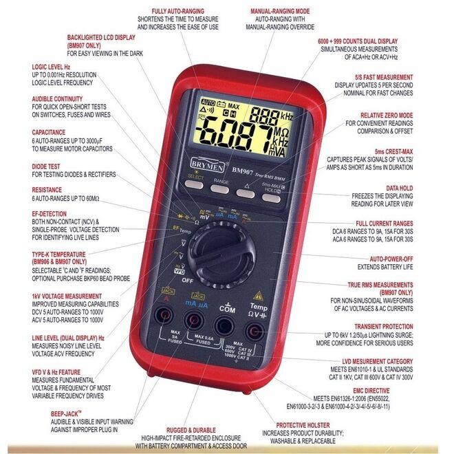 Brymen Bm 907S 1000V Digital Multimeter