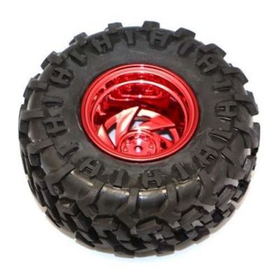 Büyük Arazi Tekerleği 125 mm x 58 mm - Kırmızı