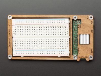 C4Labs Zebra Plus Raspberry Pi Zero Breadboard'lu Case
