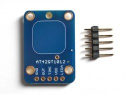 Capacitive Touch Toggle Button Board- AT42QT1012 - Thumbnail