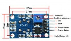 Carbon Monoxide and Flammable Gas Sensor Board - MQ-9 - Thumbnail