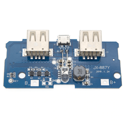 Robotistan - Çift USB Çıkışlı Power Bank Kartı - Pil Seviye Göstergeli (2.1A ve 1A Çıkışlı)