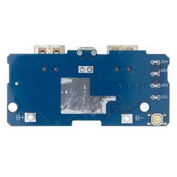 Çift USB Çıkışlı Power Bank Kartı - Pil Seviye Göstergeli (2.1A ve 1A Çıkışlı) - Thumbnail