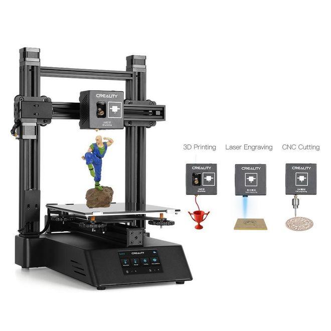 Creality 3D CP-01 Modüler 3D Yazıcı (Lazer Kazıma ve CNC İşleme)