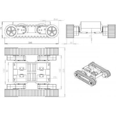 Dagu Rover5 - Mobile Robot Platform with 2 Motors (No Encoders)