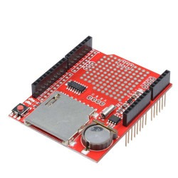 Robotistan - Data Logging SD Card Socket Shield with RTC Real Time Clock for Arduino
