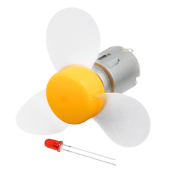 Robotistan - DC motor with fan+LED (NO.2: R260)