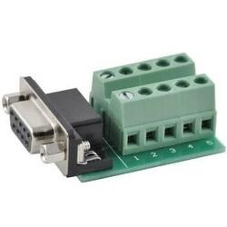 DE-9 (DB-9) Female Socket Connector to Terminal Block Breakout - Thumbnail