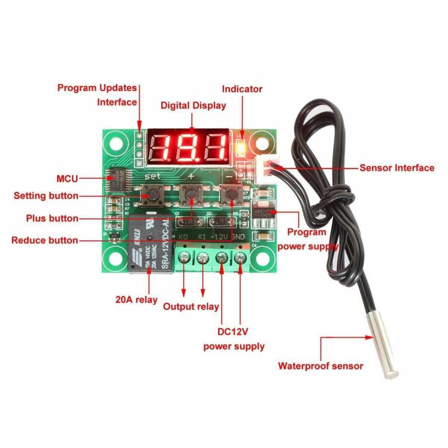 Buy Digital Thermostat, Temperature Control Relay Board with