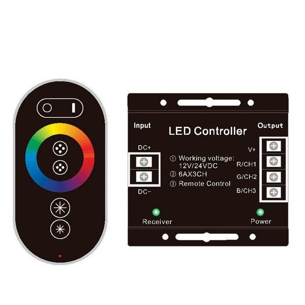 Dokunmatik RGB Şerit Led RF Kontrol Kumandası - 30A