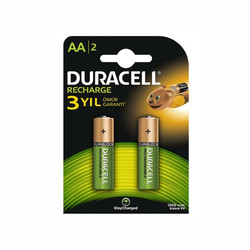 Duracell - Duracell AA Rechargeable 1300 mAh Batteries (2-Pack)