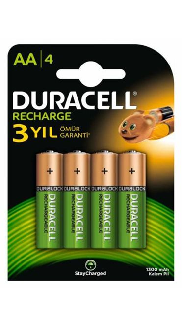 Duracell AA Rechargeable 1300 mAh Batteries (4-Pack)