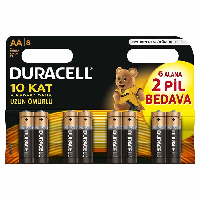 Duracell Basic AA Batteries (8-Pack)